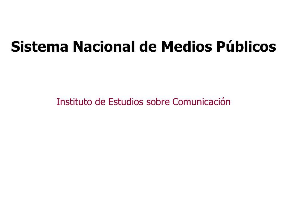 Instituto de Estudios sobre Comunicación La creación del Instituto de Estudios afirma el carácter sistémico de los S.N.M.P y la creatividad para dotarlo de nuevos instrumentos de gestión.