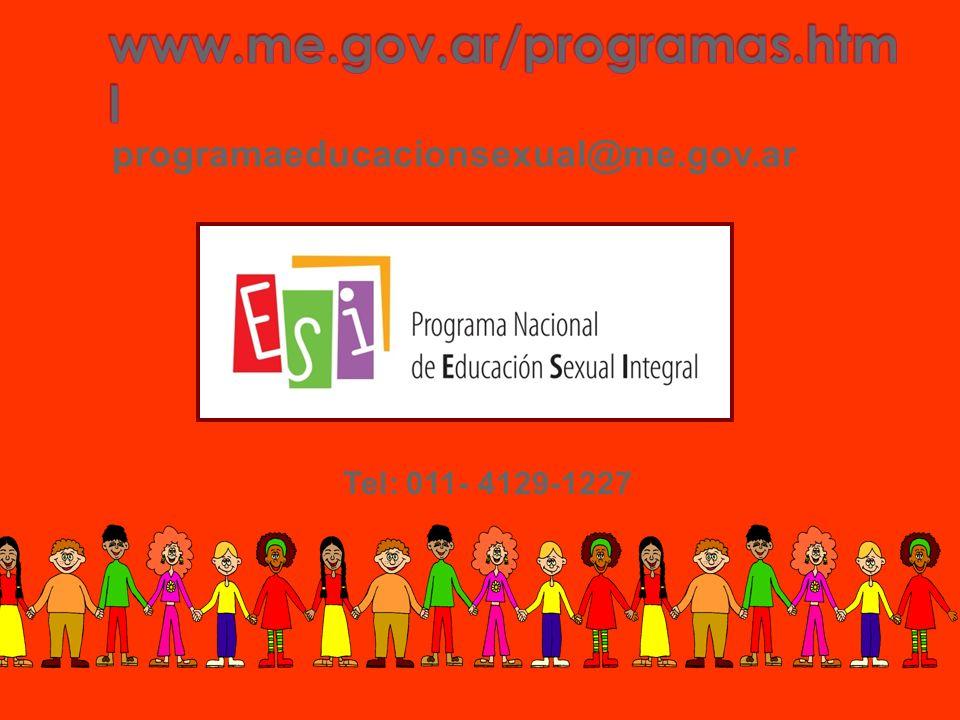 programaeducacionsexual@me.gov.ar Tel: 011- 4129-1227