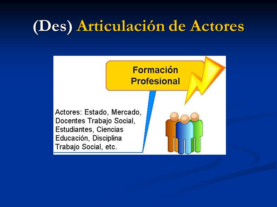 (Des) Articulación de Actores