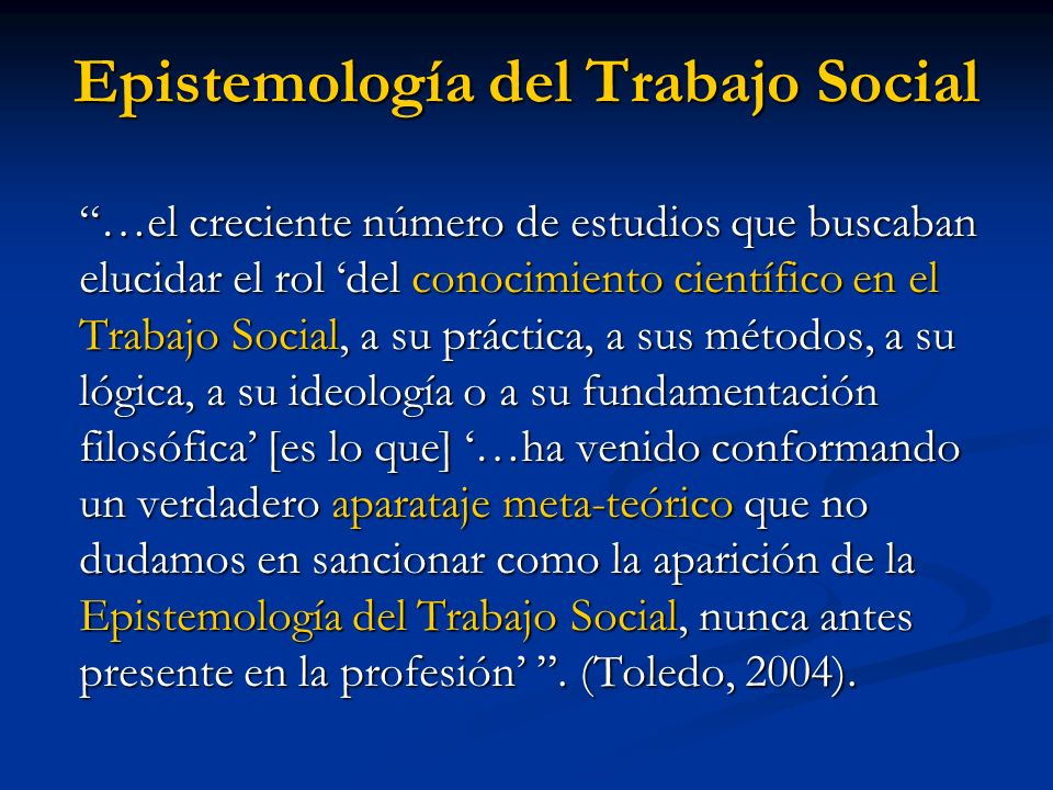 Devenir histórico del Trabajo Social (Al decir de R.