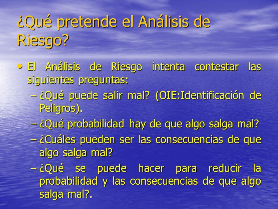 ¿Qué pretende el Análisis de Riesgo? El Análisis de Riesgo intenta contestar las siguientes preguntas: El Análisis de Riesgo intenta contestar las sig