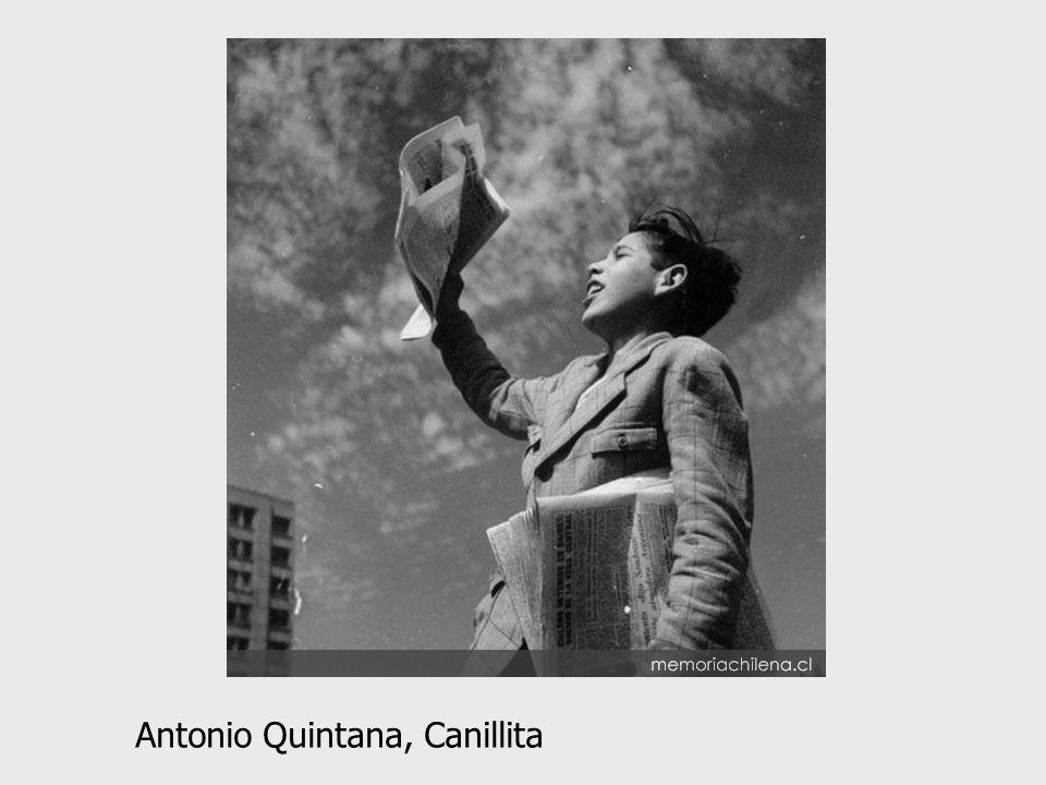 Antonio Quintana, Canillita