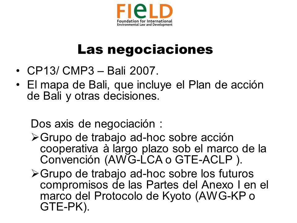 Las negociaciones CP13/ CMP3 – Bali 2007.