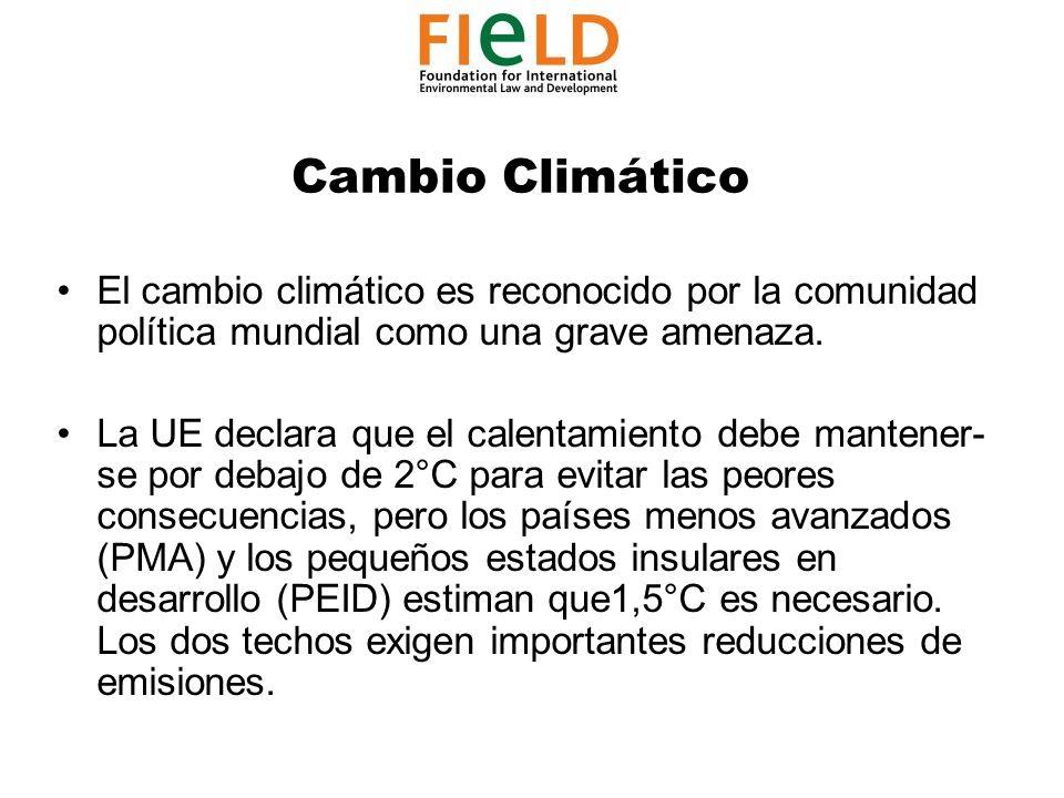 Cambio Climático El cambio climático es reconocido por la comunidad política mundial como una grave amenaza.