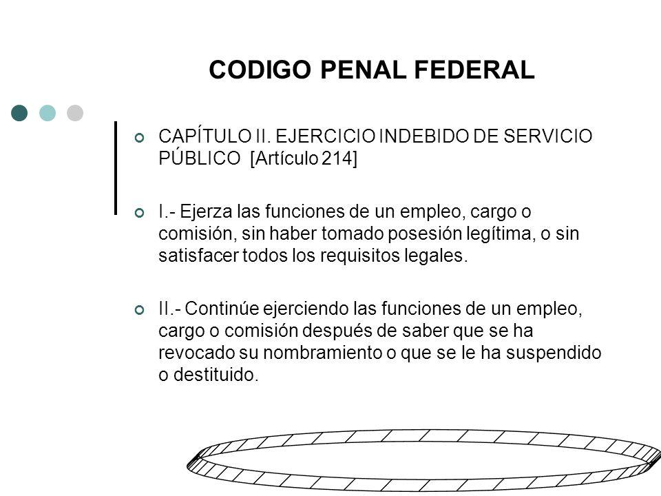 CODIGO PENAL FEDERAL CAPÍTULO II.