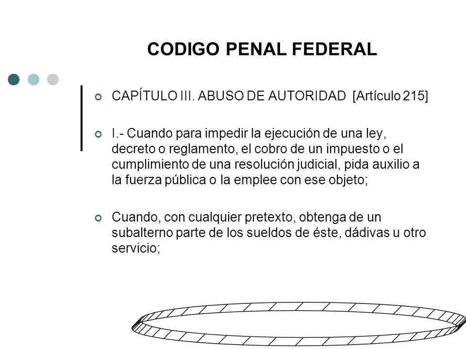 CODIGO PENAL FEDERAL CAPÍTULO III bis.