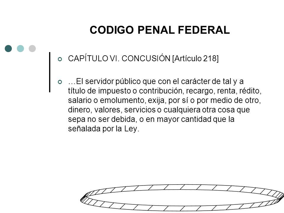 CODIGO PENAL FEDERAL CAPÍTULO VI.