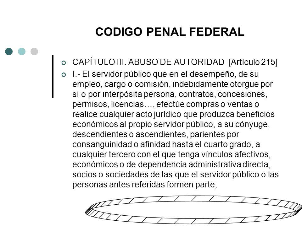 CODIGO PENAL FEDERAL CAPÍTULO III.
