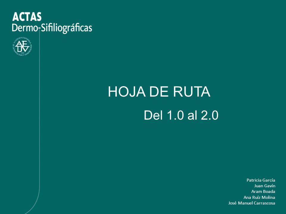 HOJA DE RUTA Del 1.0 al 2.0 Patricia García Juan Gavín Aram Boada Ana Ruíz Molina José Manuel Carrascosa