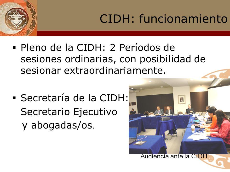 CIDH: mandato Emite comunicados de prensa informando acerca de violaciones de derechos o alertando sobre determinada situación; Recomienda a los Estad