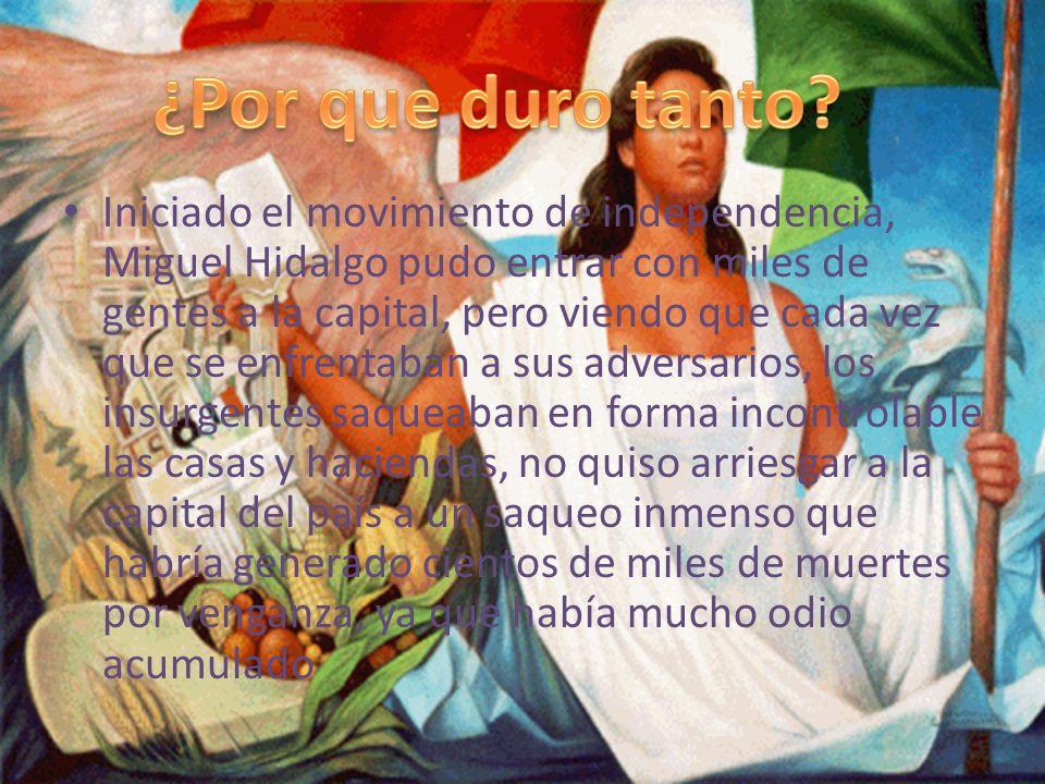 El proceso de la independencia de México fue uno de los más largos de América Latina.