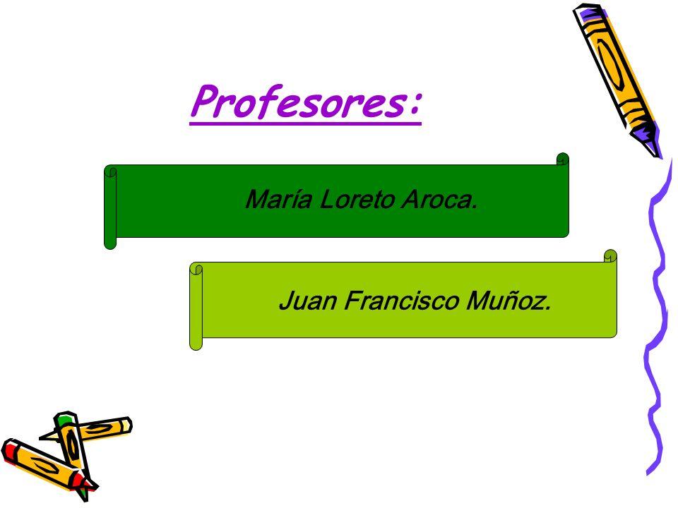 Profesores: María Loreto Aroca. Juan Francisco Muñoz.