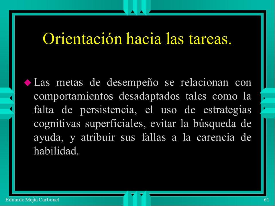 Eduardo Mejía Carbonel61 Orientación hacia las tareas.