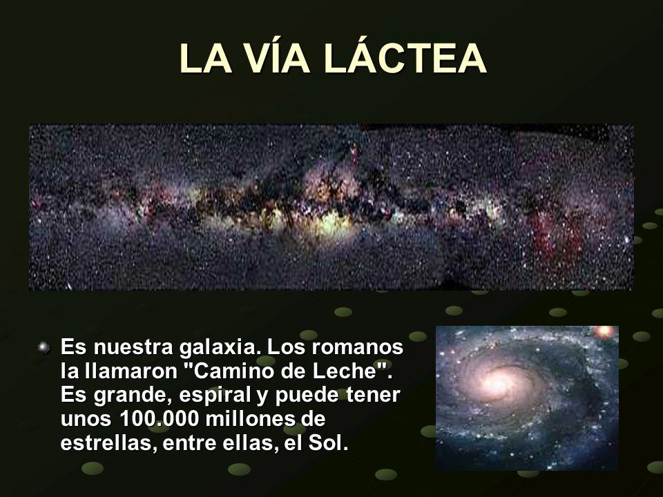 LA VÍA LÁCTEA Es nuestra galaxia. Los romanos la llamaron