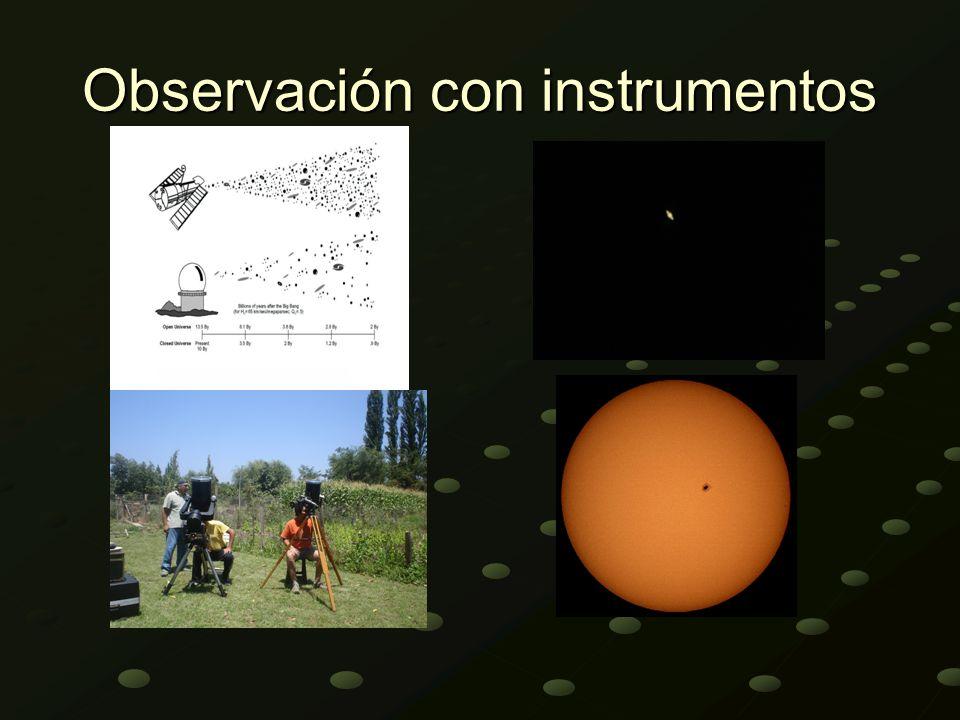 Observación con instrumentos