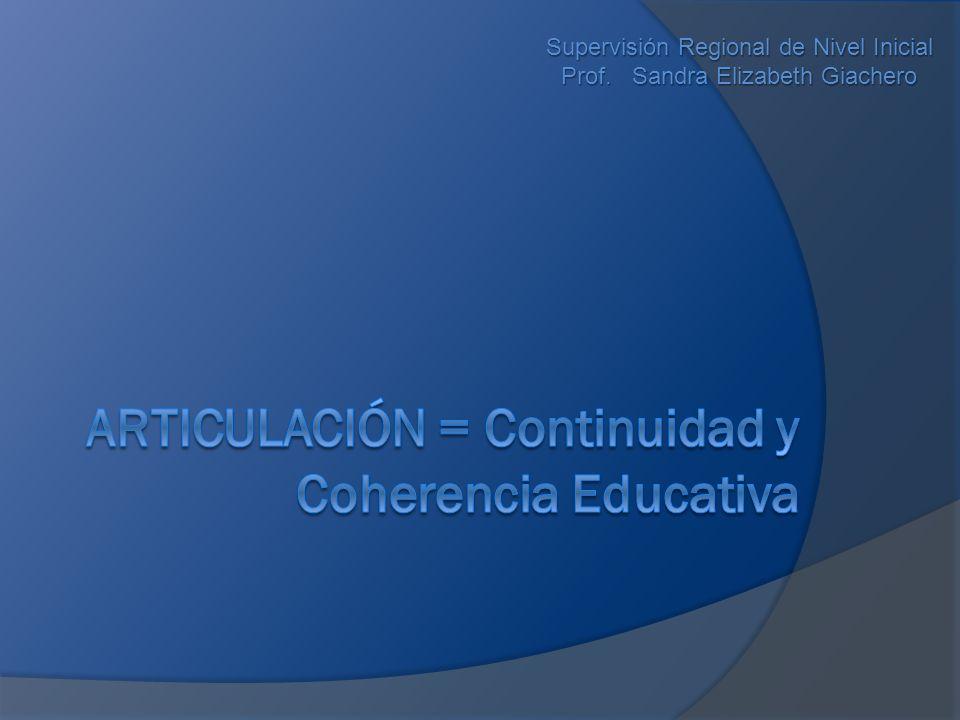 Supervisión Regional de Nivel Inicial Prof. Sandra Elizabeth Giachero