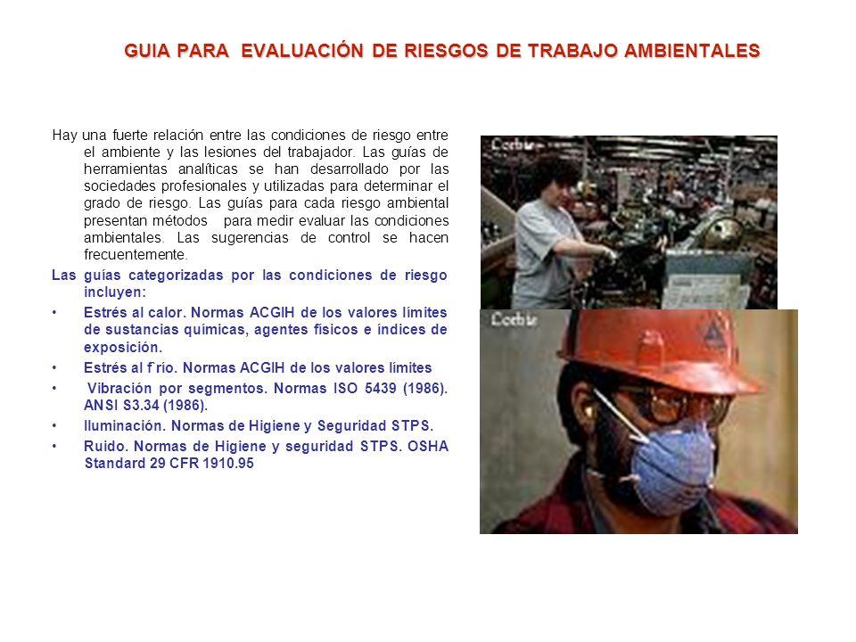CUANTIFICACION DE LOS RIESGOS ERGONOMICOS Las técnicas que siguen son entre muchas de las mas útiles y que han demostrado su efectividad en la evaluac