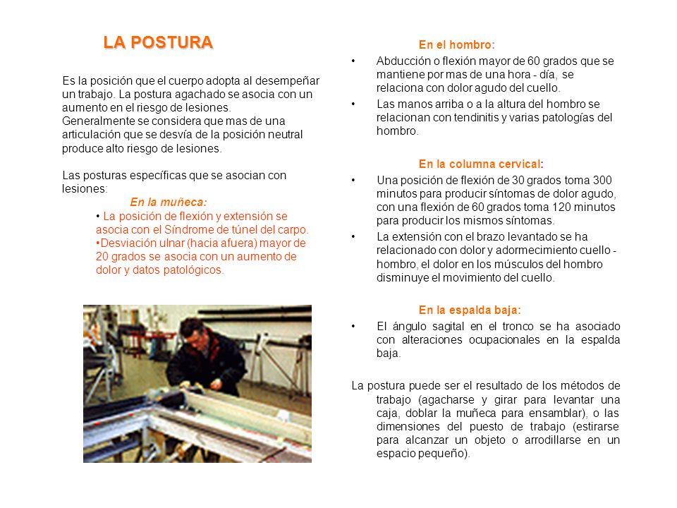 DESCRIPCION DEL PUESTO DE TRABAJO El ambiente de trabajo se caracteriza por la interacción entre los siguientes elementos: 1. El trabajador con los at