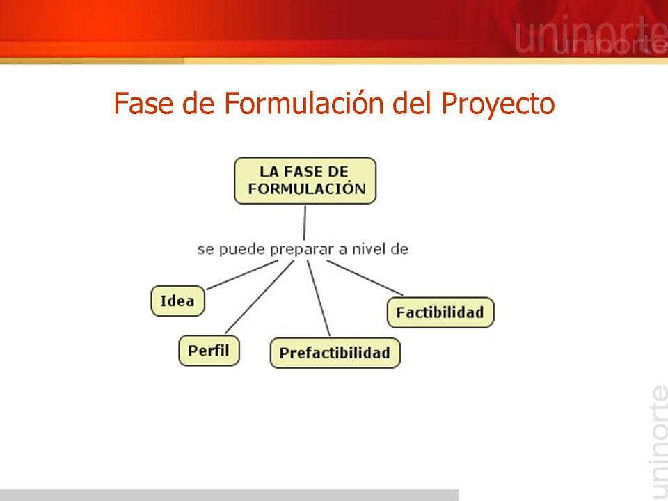 Fase de Formulación del Proyecto