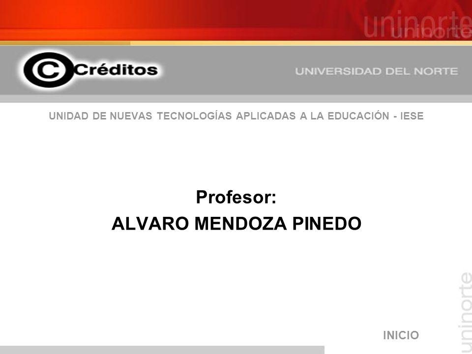 UNIDAD DE NUEVAS TECNOLOGÍAS APLICADAS A LA EDUCACIÓN - IESE Profesor: ALVARO MENDOZA PINEDO INICIO