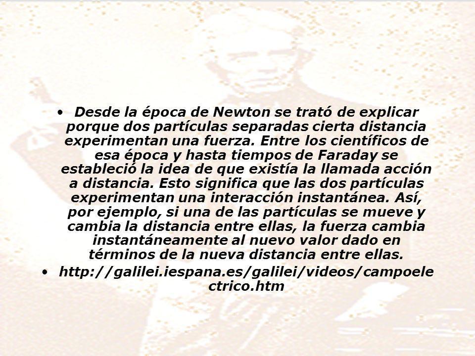 Desde la época de Newton se trató de explicar porque dos partículas separadas cierta distancia experimentan una fuerza.
