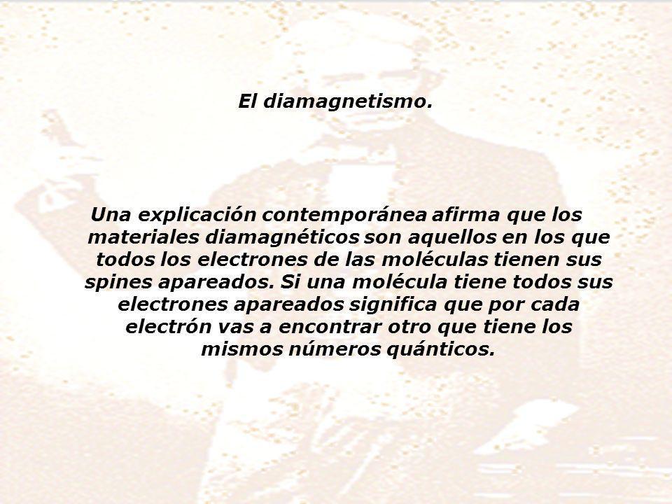El diamagnetismo.