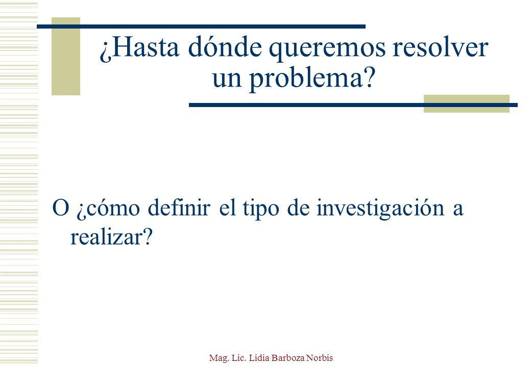 Mag.Lic. Lidia Barboza Norbis ¿Qué es un diseño de investigación.