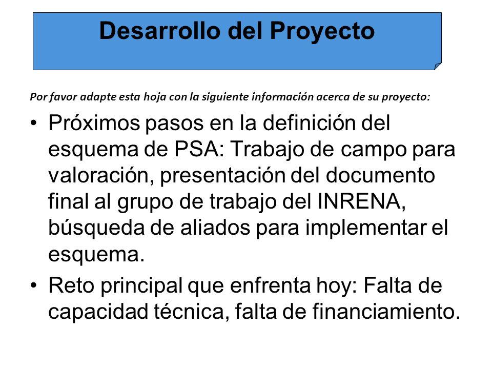Por favor adapte esta hoja con la siguiente información acerca de su proyecto: 1.