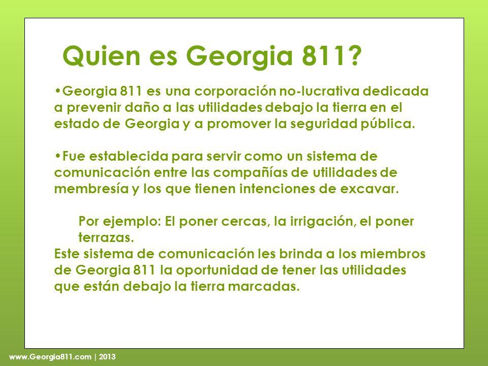 www.Georgia811.com | 2013 Quien es Georgia 811.