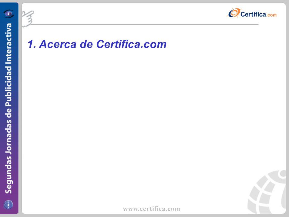 www.certifica.com Acerca de Certifica.com Historia Fue fundada hace siete años originalmente como un auditor de medios online para el mercado Latinoamericano.