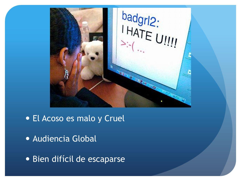 El Acoso es malo y Cruel Audiencia Global Bien difícil de escaparse