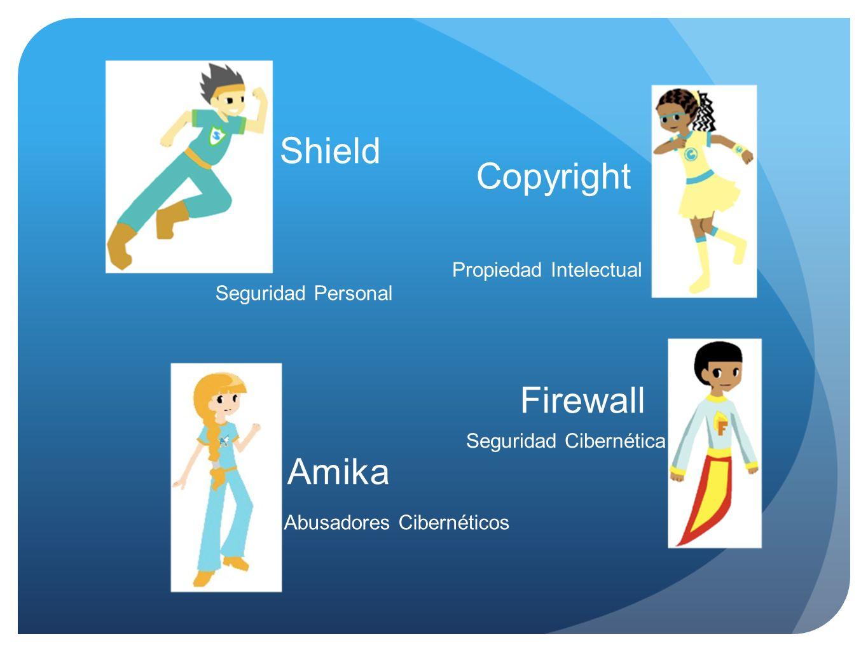 Shield Copyright Firewall Amika Seguridad Personal Abusadores Cibernéticos Propiedad Intelectual Seguridad Cibernética