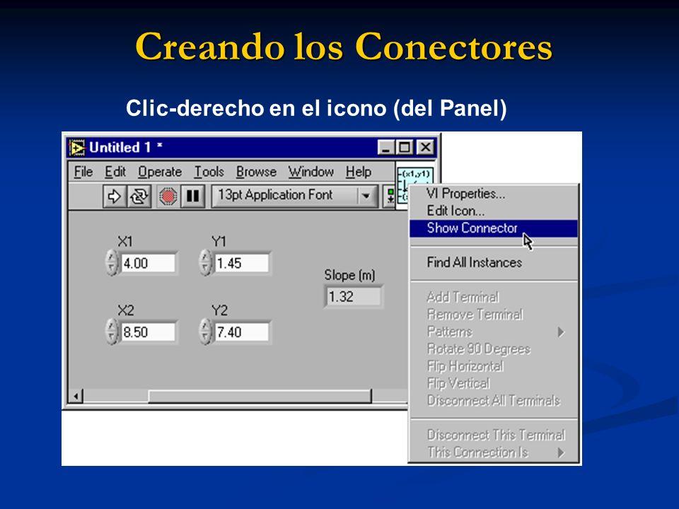 Creando los Conectores Clic-derecho en el icono (del Panel)
