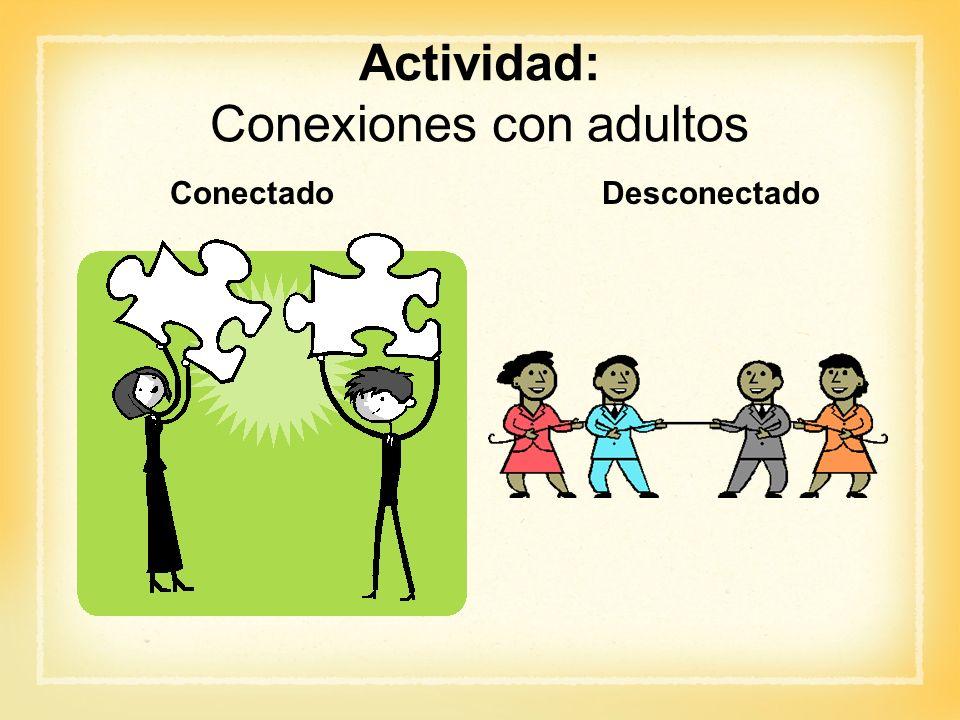 Actividad: Conexiones con adultos ConectadoDesconectado