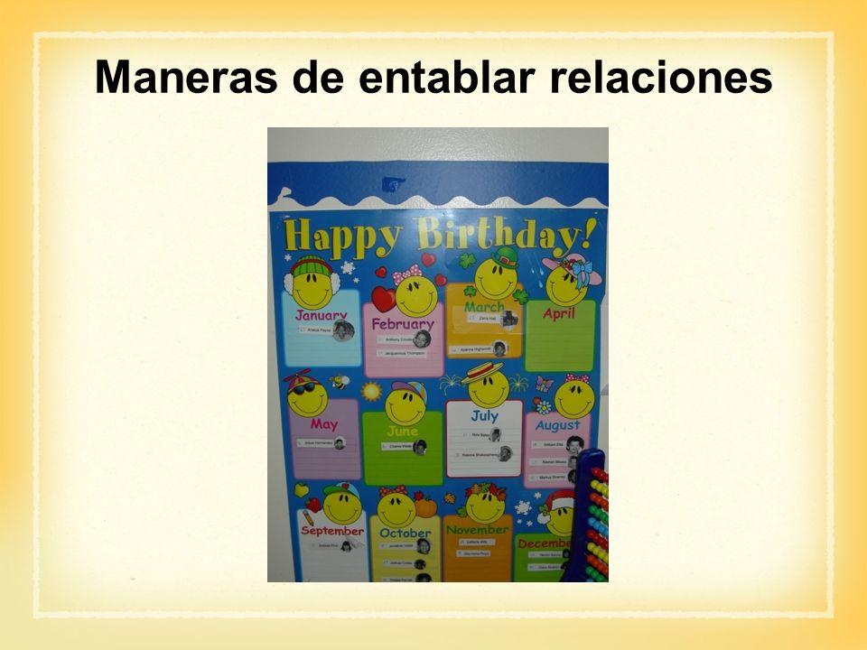 Actividad: Maneras de entablar relaciones ¿Cómo se entablan relaciones positivas con: -Niños.