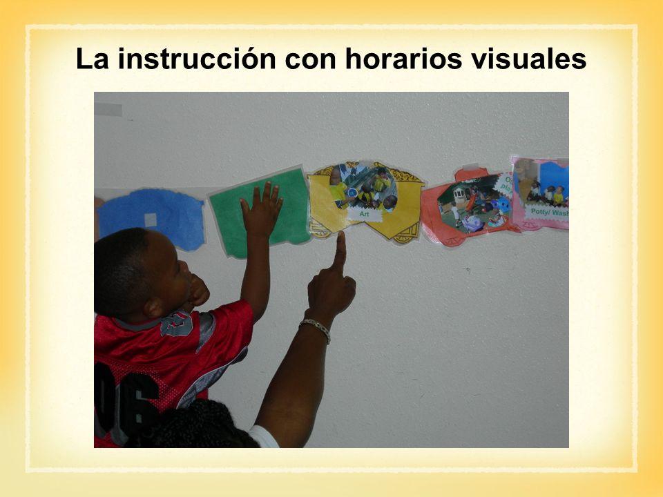 La instrucción con horarios visuales