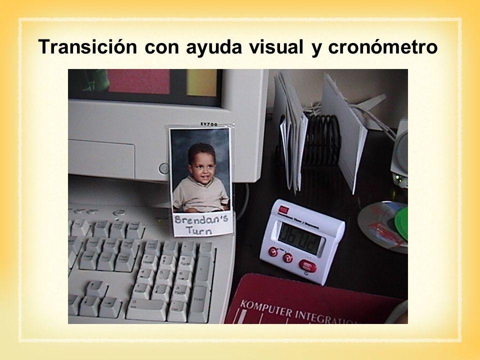 Transición con ayuda visual y cronómetro