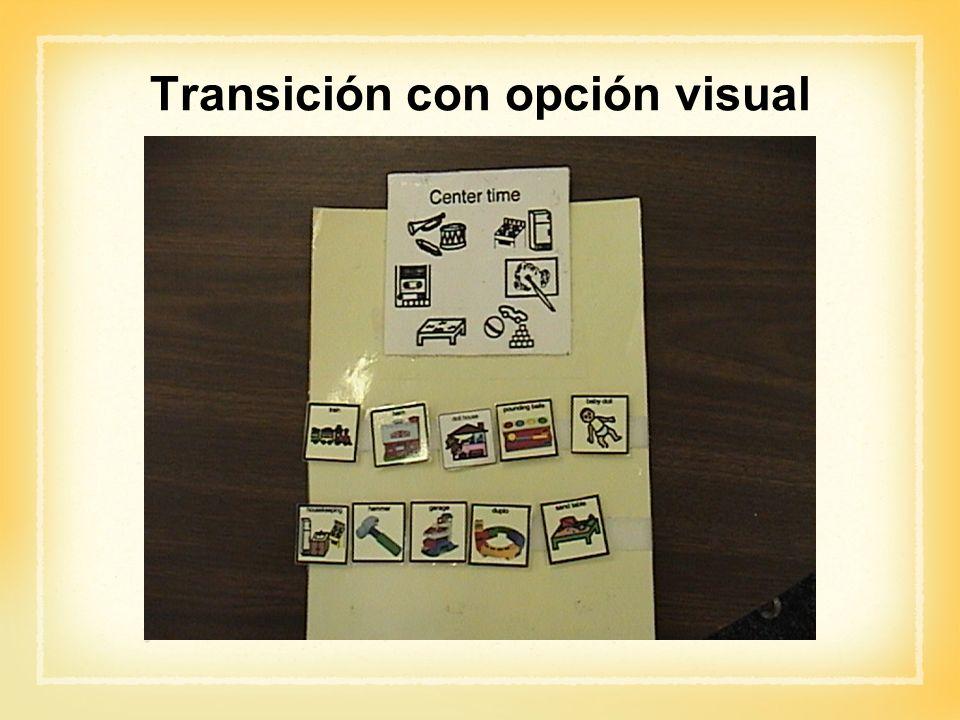 Transición con opción visual