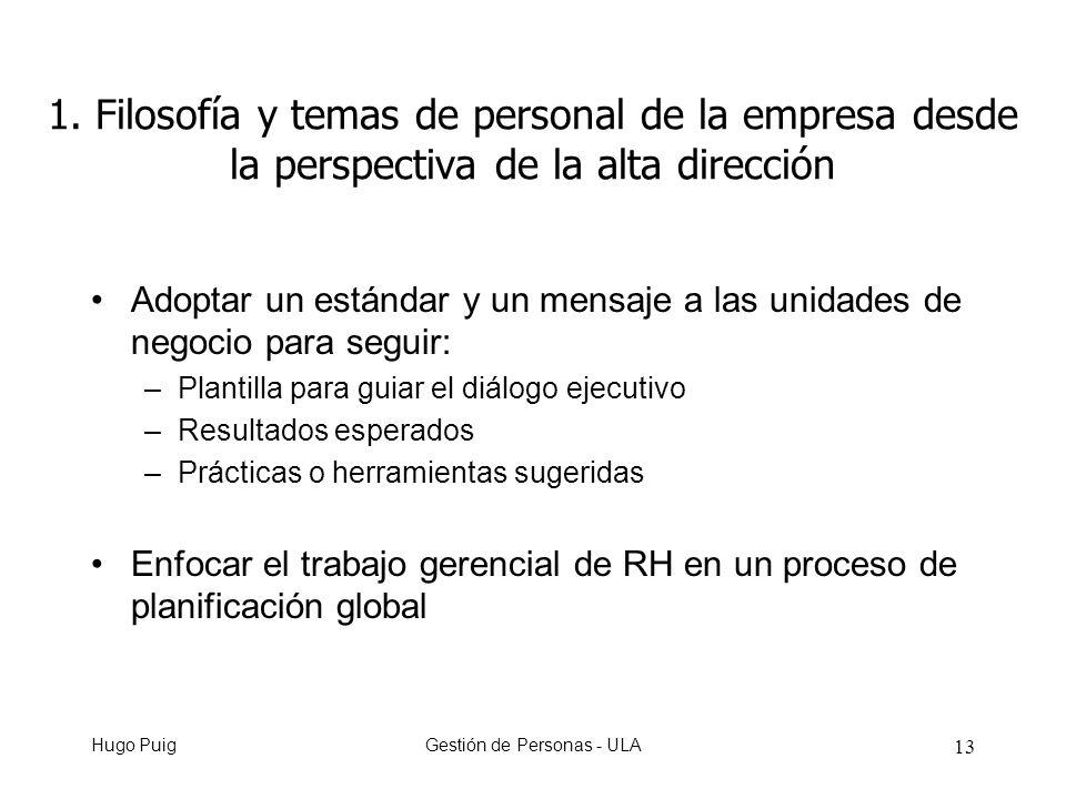 Hugo PuigGestión de Personas - ULA 13 1.