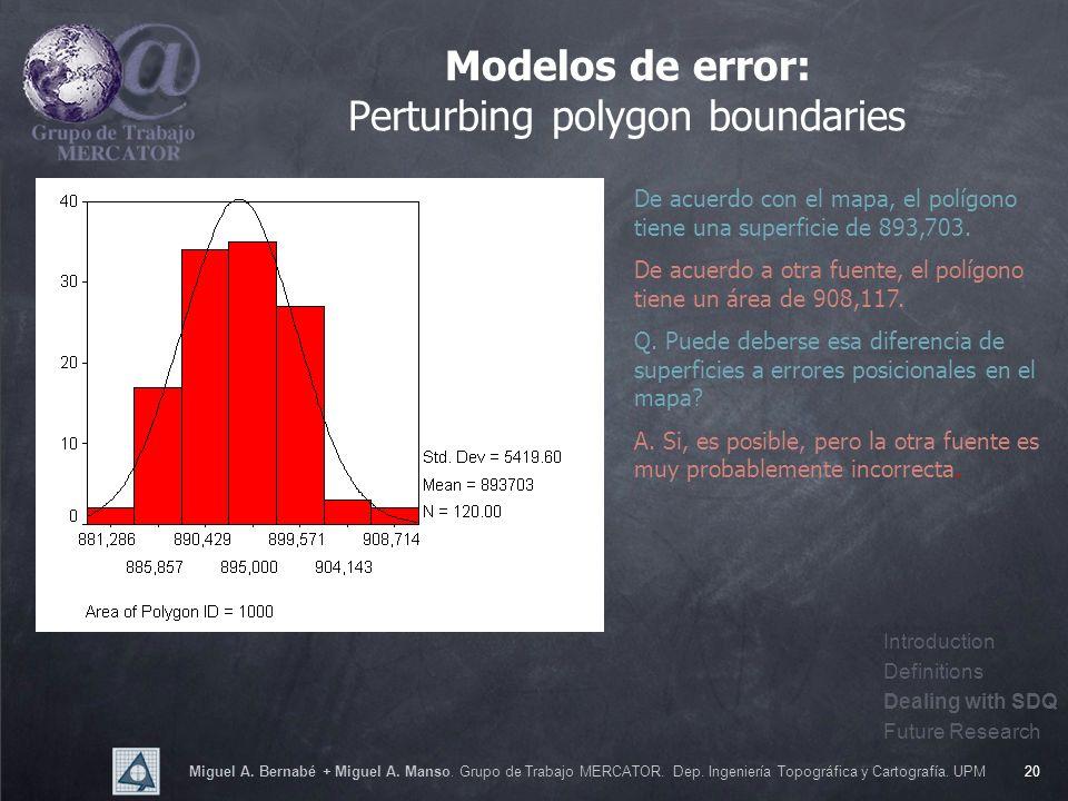 Miguel A. Bernabé + Miguel A. Manso. Grupo de Trabajo MERCATOR. Dep. Ingeniería Topográfica y Cartografía. UPM20 Modelos de error: Perturbing polygon