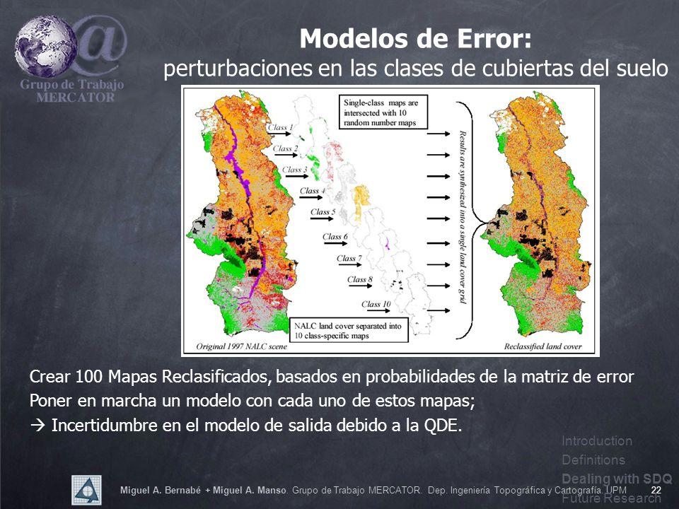 Miguel A. Bernabé + Miguel A. Manso. Grupo de Trabajo MERCATOR. Dep. Ingeniería Topográfica y Cartografía. UPM22 Modelos de Error: perturbaciones en l