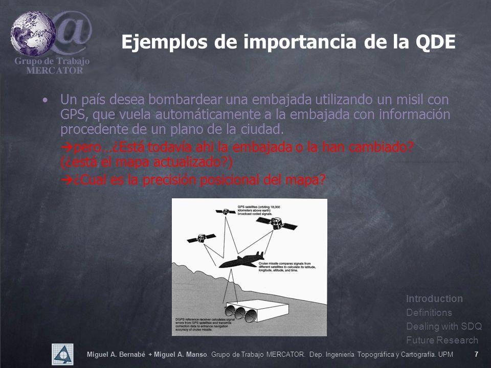 Miguel A. Bernabé + Miguel A. Manso. Grupo de Trabajo MERCATOR. Dep. Ingeniería Topográfica y Cartografía. UPM7 Un país desea bombardear una embajada