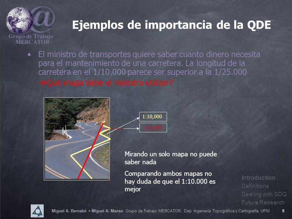 Miguel A. Bernabé + Miguel A. Manso. Grupo de Trabajo MERCATOR. Dep. Ingeniería Topográfica y Cartografía. UPM8 El ministro de transportes quiere sabe