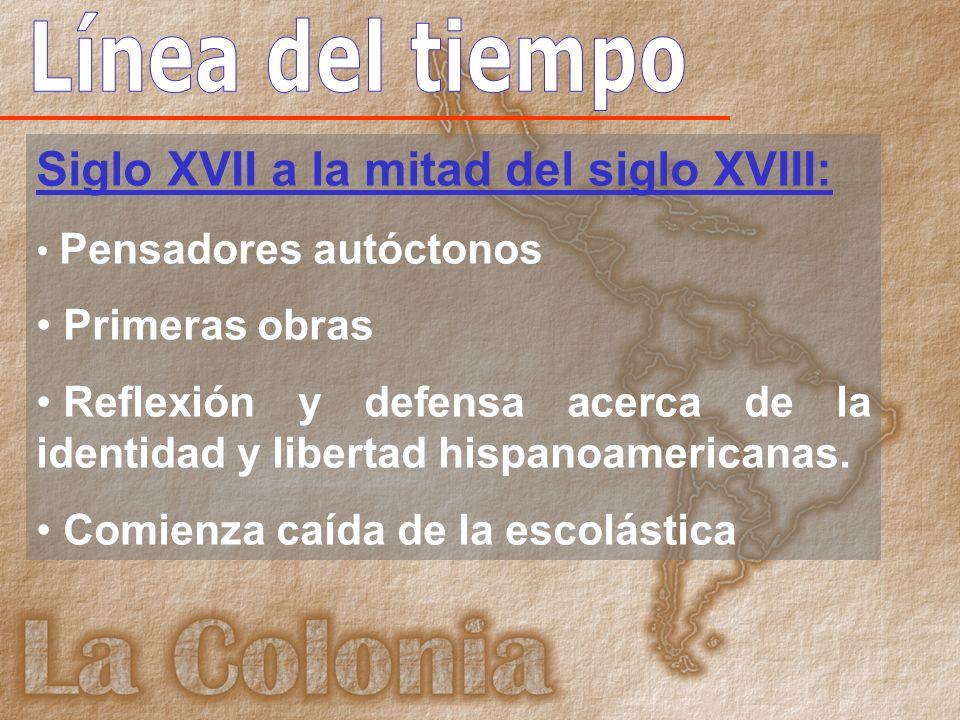 Periodo del siglo XVII a la primera mitad del XVIII: Surgen teólogos y filósofos autóctonos formados tanto en universidades españolas como hispanoamericanas.