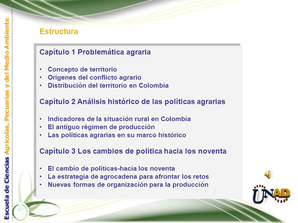 Política agraria Elementos Analiza Problemática agraria Con Perspectiva histórica y análisis de tendencias