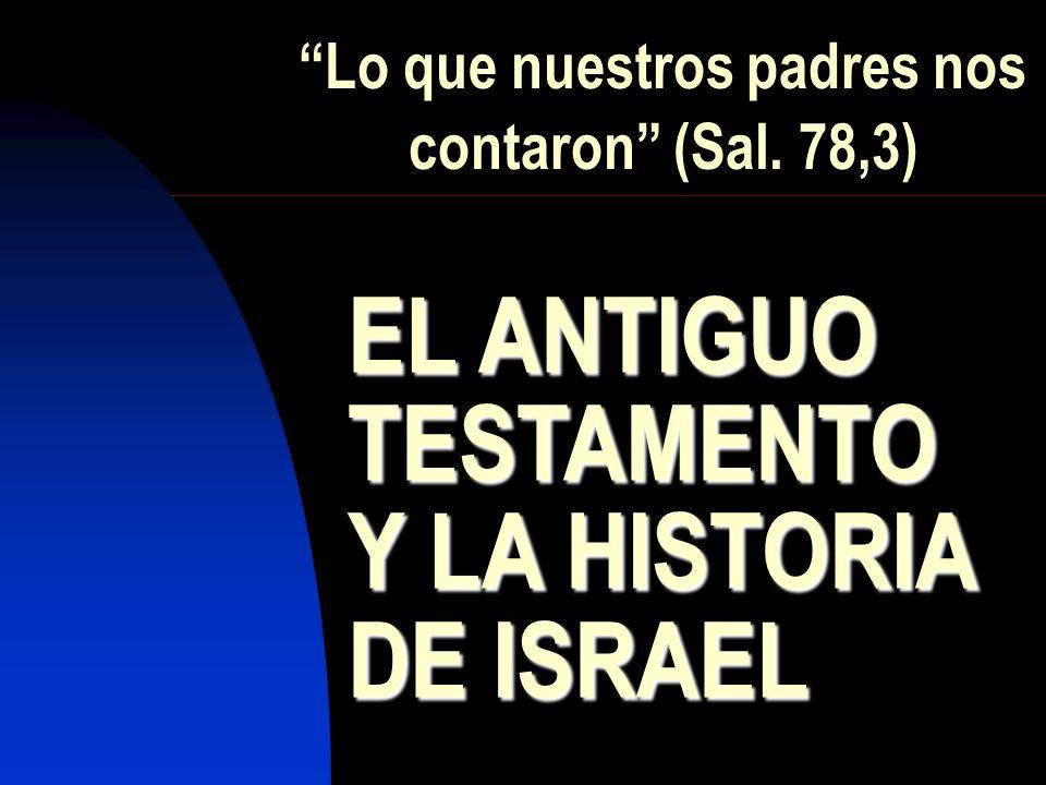Lo que nuestros padres nos contaron (Sal. 78,3) EL ANTIGUO TESTAMENTOY LA HISTORIA DE ISRAEL