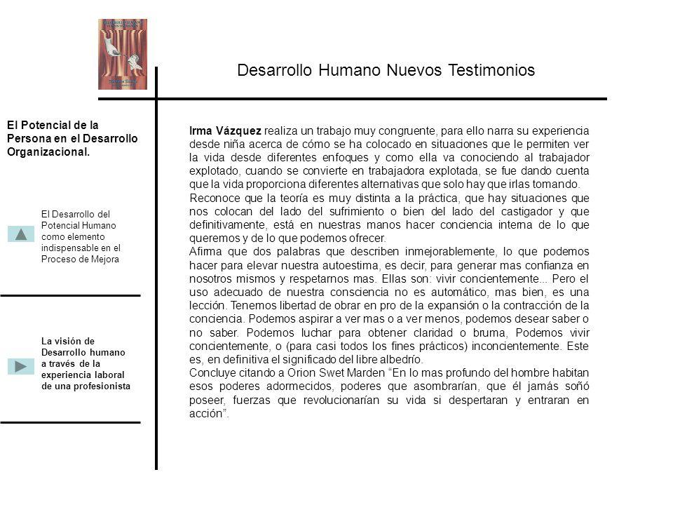 Desarrollo Humano Nuevos Testimonios.