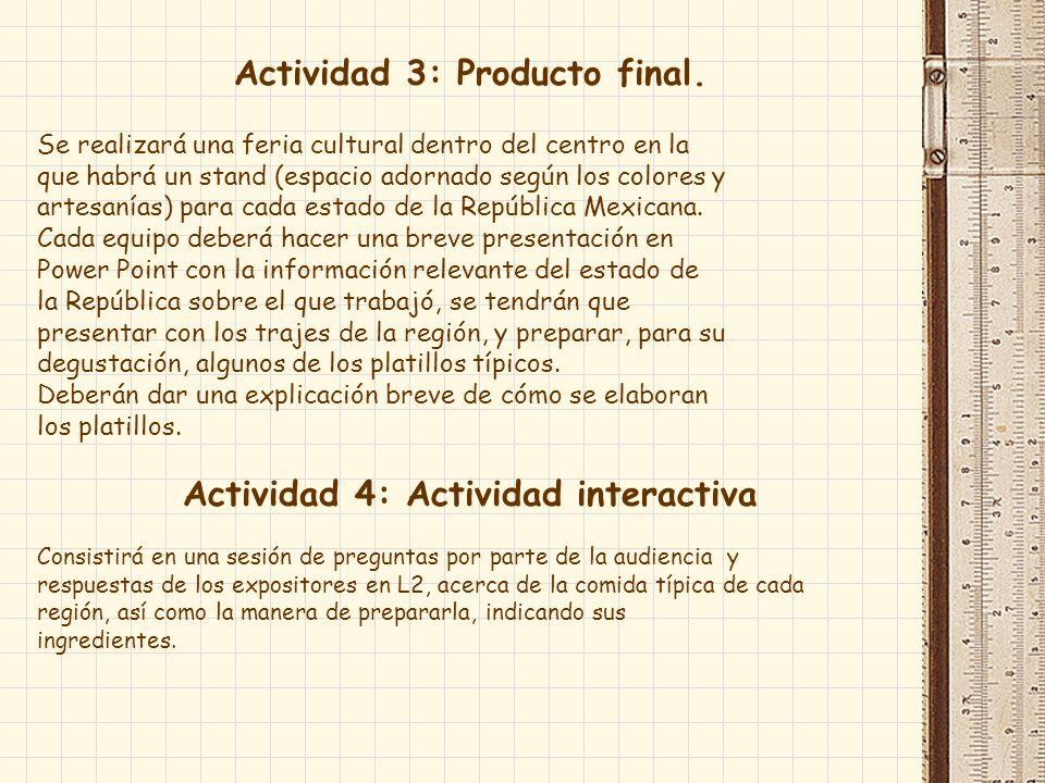 Actividad 3: Producto final.