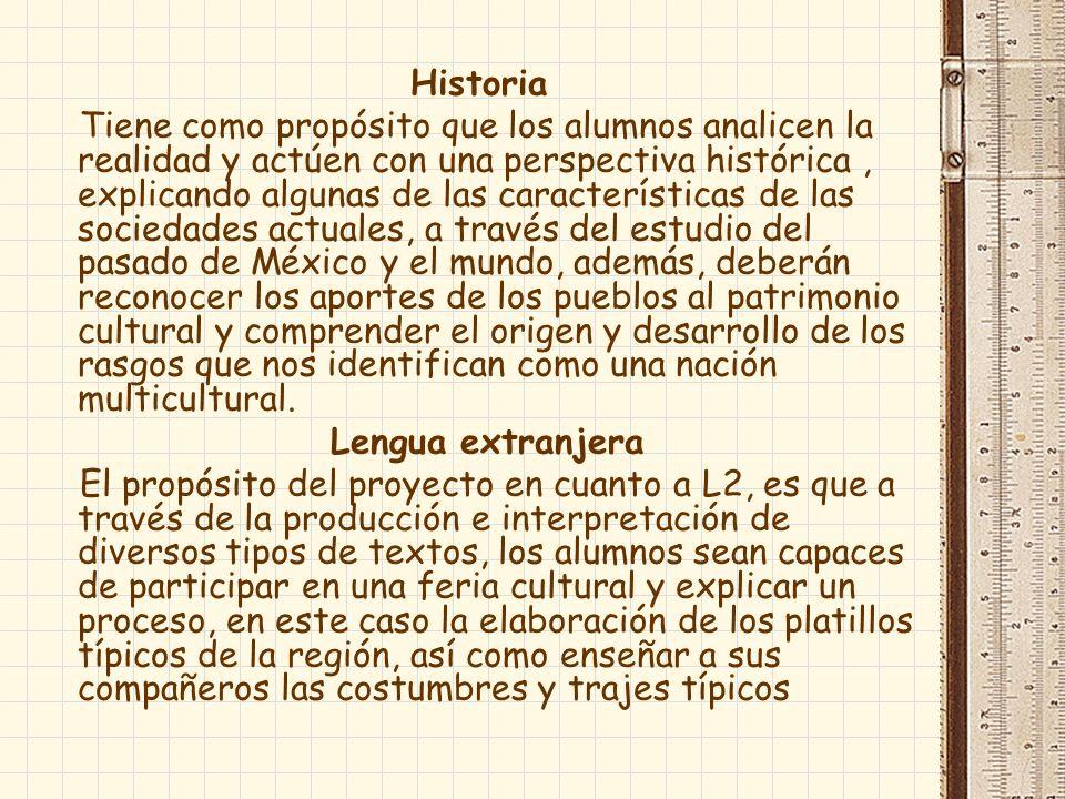 TAREAS A través las actividades propuestas los alumnos harán un recorrido por diferentes estados de la República Mexicana, recabando información acerca de su historia, geografía, costumbres, trajes y platillos típicos.