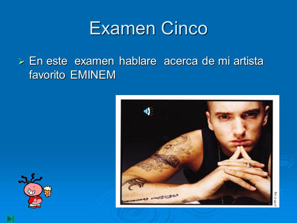 Mas curiosidades La policía inglesa investiga si Eminem hizo un concierto yendo colocado de éxtasis, y si animó al público a tomar drogas.